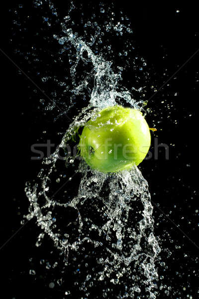 Foto stock: Verde · maçã · preto · natureza · fruto