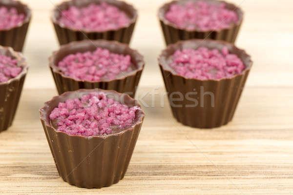 small chocolate candy cakes  Stock photo © artush