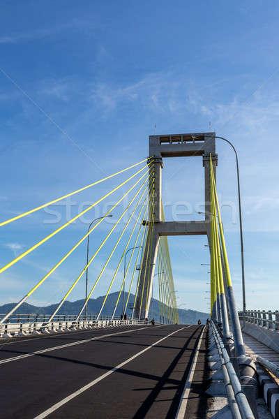Puente puerto Indonesia norte agua carretera Foto stock © artush