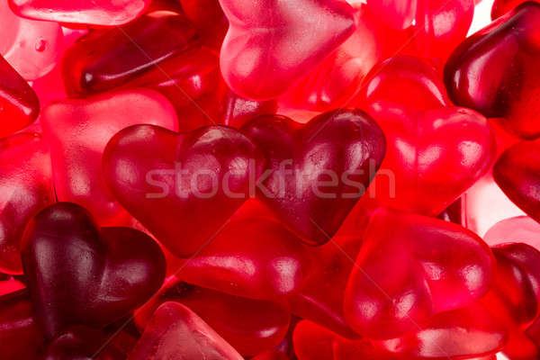 Brightly coloured red gums hearts Stock photo © artush