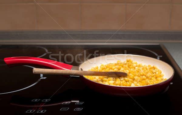 Cocina dulce cuchara de madera macro salud fondo Foto stock © artush