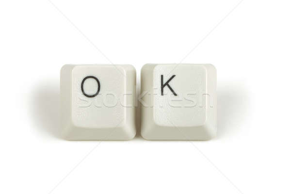 ok from scattered keyboard keys on white Stock photo © artush