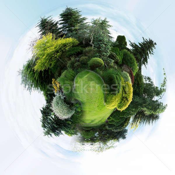 planet of Beautiful spring garden design Stock photo © artush