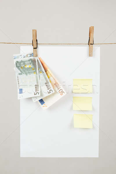 Memory note paper with Euro moneys Stock photo © artush