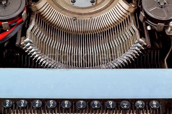 retro typewriter close up with number keys Stock photo © artush