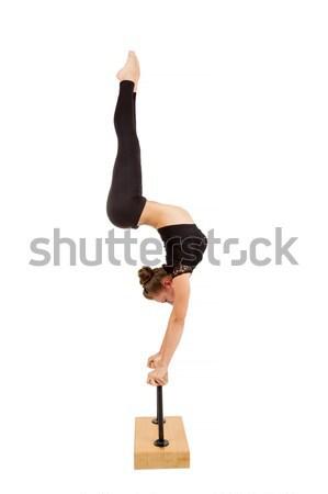 Genç profesyonel jimnastikçi kadın güzellik Stok fotoğraf © artush