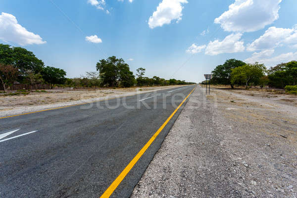 Endless road with blue sky Stock photo © artush