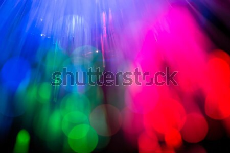 optical fibres abstract blurred technology background Stock photo © artush