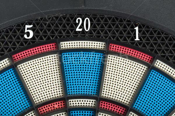 Darts tábla közelkép öreg használt szám Stock fotó © artush