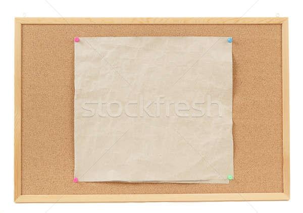 empty crumple papers on cork board Stock photo © artush