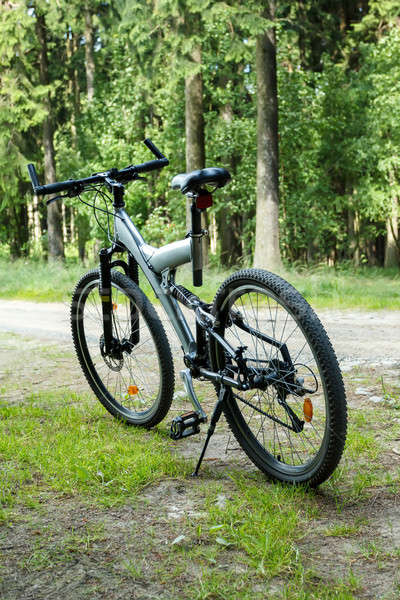 detail of bike parked in a country road Stock photo © artush