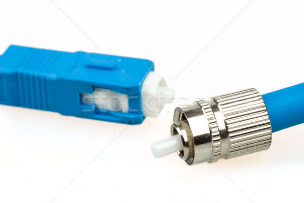 blue fiber optic SC connector and FC type connector Stock photo © artush