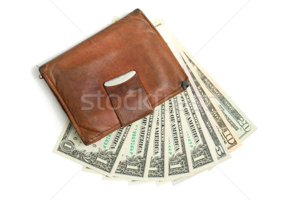 leather wallet with money Stock photo © artush