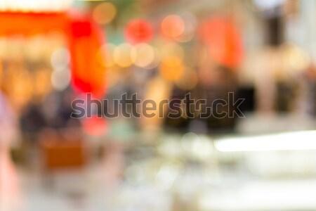 Elmosódott vásárlás központ ki fókusz lövés Stock fotó © artush