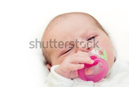 çok güzel bebek emzik yüz ağız bakıyor Stok fotoğraf © artush