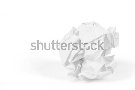 close-up of crumpled paper ball Stock photo © artush