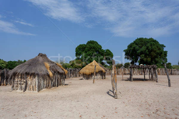 traditional african village with houses  Stock photo © artush