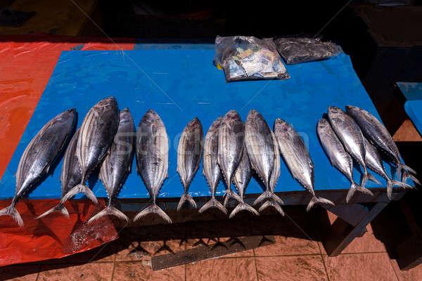 fresh fish on traditional market Stock photo © artush