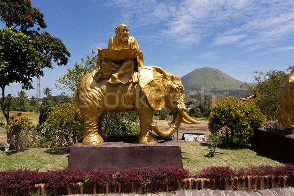 Сток-фото: жира · монах · слон · статуя · комплекс · пагода