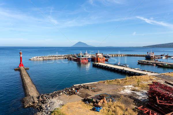 harbor in Kota Manado City, Indonesia Stock photo © artush