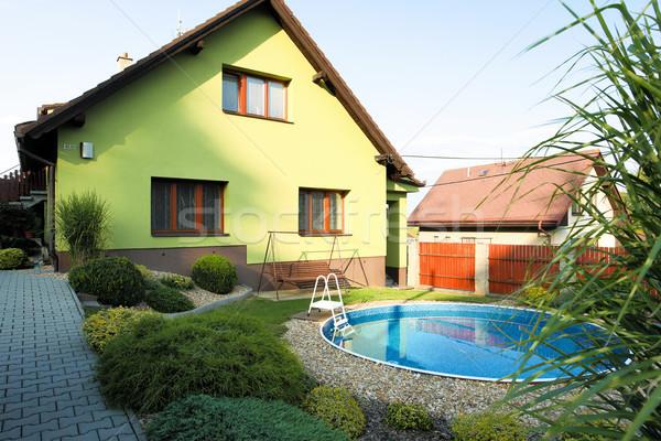 beautiful green colored rural house Stock photo © artush