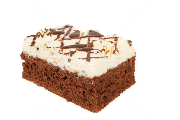 homemade cake with white icing and chocolate Stock photo © artush