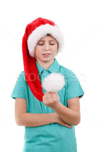 happy santa teenager Stock photo © artush