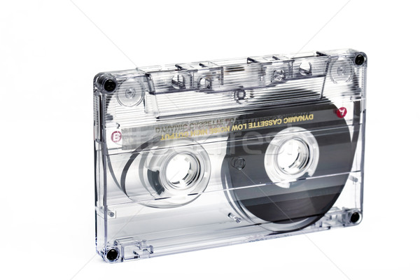 close up of vintage audio tape cassette Stock photo © artush
