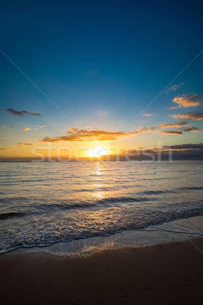 Idylic sunset over indian ocean, Madagascar Stock photo © artush