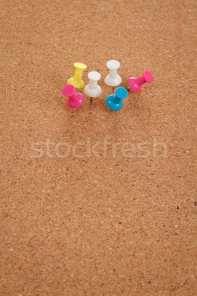 Placa de cortiça cor espaço mensagem escolas fundo Foto stock © artush