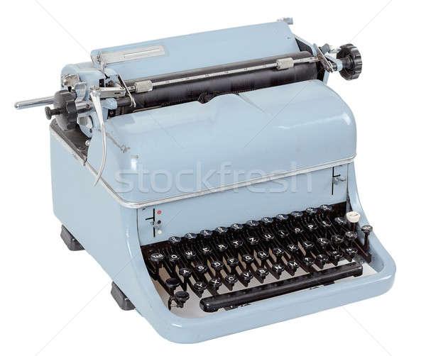retro typewriter on white background Stock photo © artush