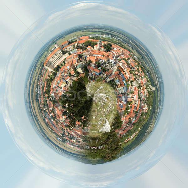 Planet of panorama of Mikulov Stock photo © artush