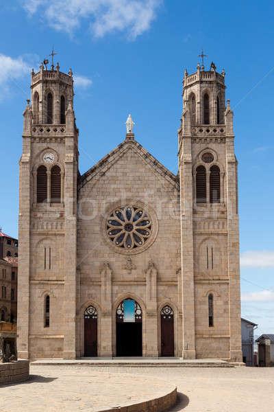 Katedral uçurum kraliçe erken Hristiyan hiçbir insan Stok fotoğraf © artush