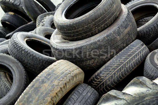 Pile of old tires Stock photo © artush