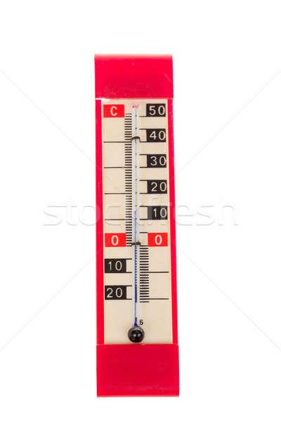 Rosso plastica retro termometro celsius scala Foto d'archivio © artush