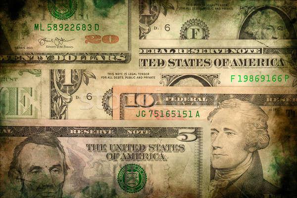 USA dollar money banknotes texture grunge background Stock photo © artush