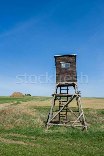 Stockfoto: Houten · hoog · zitting · jacht · toren