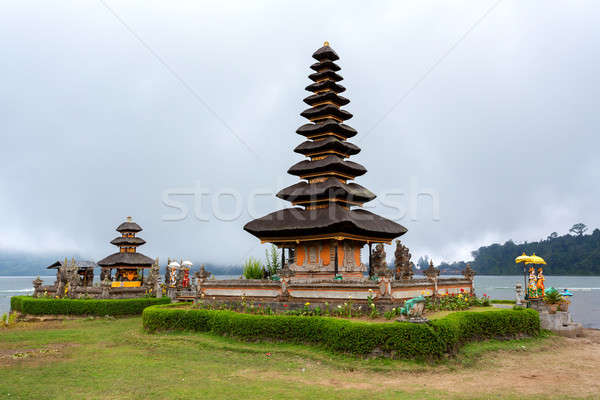 Víz templom Bali híres tó napos Stock fotó © artush