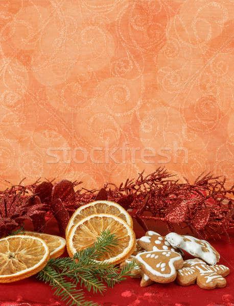 orange slices and gingerbreads Stock photo © artush