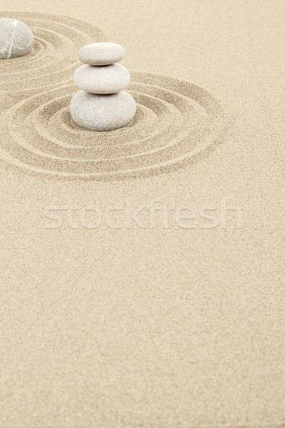 バランス 禅 石 砂 3  抽象的な ストックフォト © artush