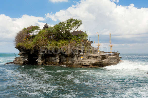 Tanah Lot Temple on Sea in Bali Island Indonesia Stock photo © artush