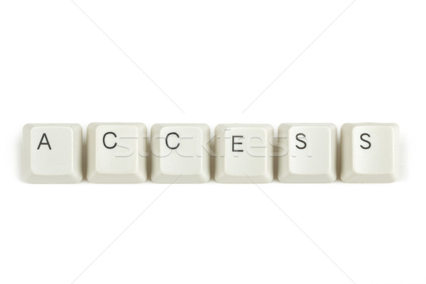 access from scattered keyboard keys on white Stock photo © artush