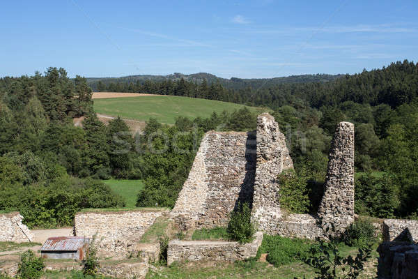 very old castle ruins Stock photo © artush