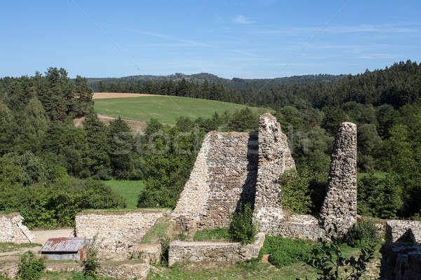 Velho castelo ruínas região República Checa edifício Foto stock © artush