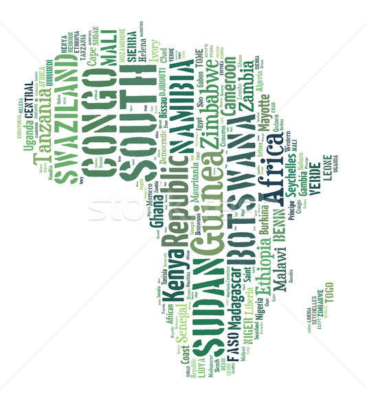 Afryki kraje kontynent szkic Afryki Zdjęcia stock © artush