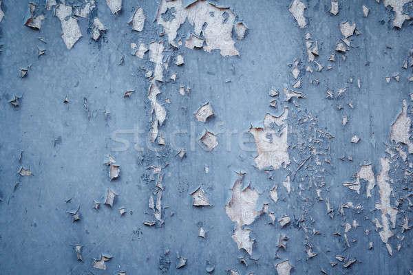 peeling blue grunge background Stock photo © artush