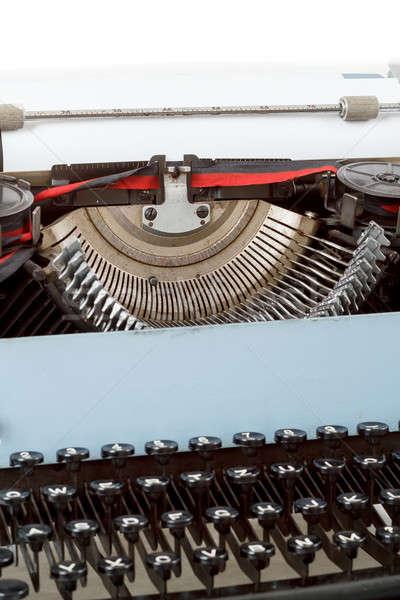retro typewriter close up with detail of keys Stock photo © artush