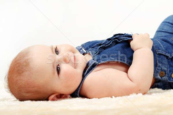 Gülen bebek bebek ilk yıl yeni hayat Stok fotoğraf © artush
