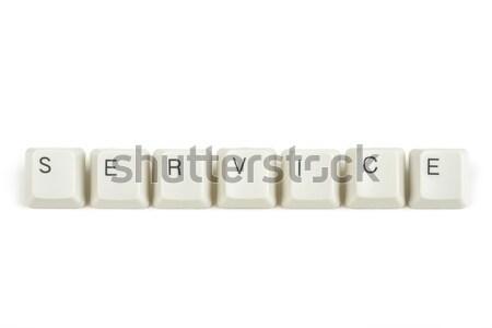 Resolver teclado claves blanco texto aislado Foto stock © artush