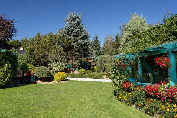 Beautiful summer garden design Stock photo © artush